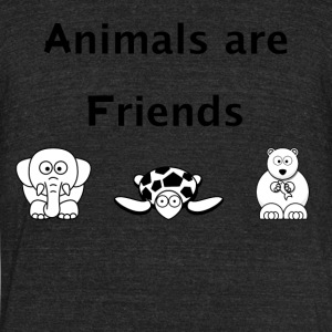 Animals are Friends - Unisex Tri-Blend T-Shirt by American Apparel