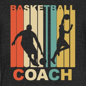 Vintage Basketball Coach Graphic - Unisex Tri-Blend T-Shirt by American Apparel
