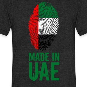 Made In UAE / United Arab Emirates - Unisex Tri-Blend T-Shirt by American Apparel