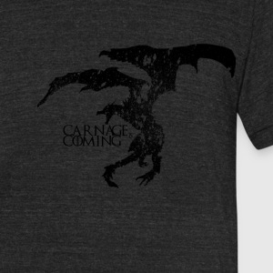 Carnage is Coming (Black) - Unisex Tri-Blend T-Shirt by American Apparel