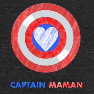 CAPTAIN MAMAN - Unisex Tri-Blend T-Shirt by American Apparel