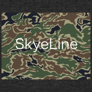 SkyeLine Green Camo and White Box Logo - Unisex Tri-Blend T-Shirt by American Apparel