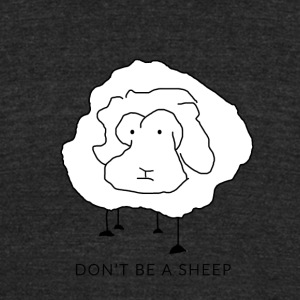 Don't be a sheep - Unisex Tri-Blend T-Shirt by American Apparel