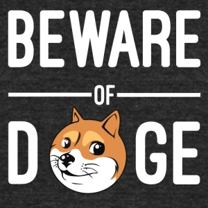 Beware of doge - Unisex Tri-Blend T-Shirt by American Apparel