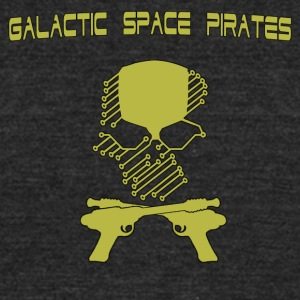Galactic Space Pirates - Unisex Tri-Blend T-Shirt by American Apparel