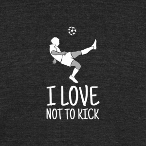 No Soccer Fan - Lazy Shirt - Unisex Tri-Blend T-Shirt by American Apparel