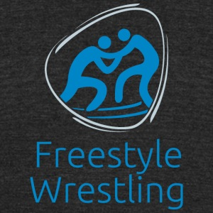 Freestyle_wrestling_blue - Unisex Tri-Blend T-Shirt by American Apparel