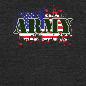 ARMY & FLAG - Unisex Tri-Blend T-Shirt by American Apparel