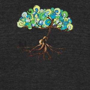 Guitar tree - Unisex Tri-Blend T-Shirt by American Apparel