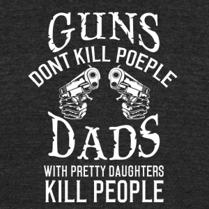 guns dont kill - Unisex Tri-Blend T-Shirt by American Apparel