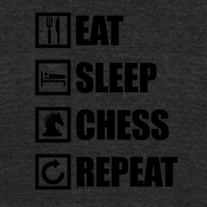 EAT SLEEP CHESS REPEAT - Unisex Tri-Blend T-Shirt by American Apparel