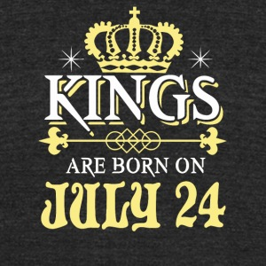 Kings Are Born On JULY 24 - Unisex Tri-Blend T-Shirt by American Apparel