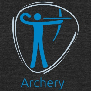 Archery_blue - Unisex Tri-Blend T-Shirt by American Apparel