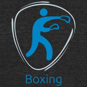 Boxing_blue - Unisex Tri-Blend T-Shirt by American Apparel
