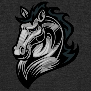 serious_horse - Unisex Tri-Blend T-Shirt by American Apparel