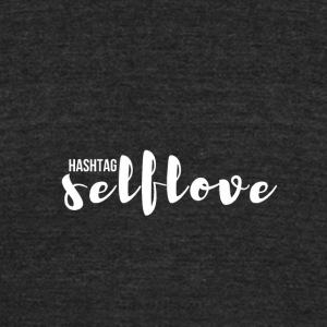 hashtag_selflove_WHITE - Unisex Tri-Blend T-Shirt by American Apparel