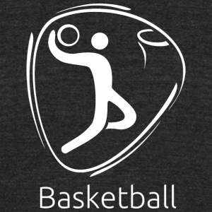 Basketball_white - Unisex Tri-Blend T-Shirt by American Apparel