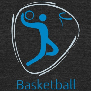 Basketball_blue - Unisex Tri-Blend T-Shirt by American Apparel
