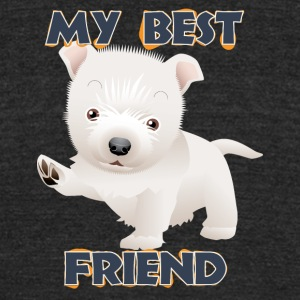 My best friend 3 - Unisex Tri-Blend T-Shirt by American Apparel