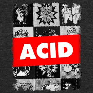 Acid LSD Blotter Art MDMA XTC Ecstasy Trippy - Unisex Tri-Blend T-Shirt by American Apparel