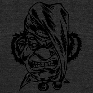 EVIL_CLOWN_35_black - Unisex Tri-Blend T-Shirt by American Apparel