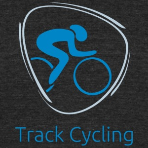 Track_cycling_blue - Unisex Tri-Blend T-Shirt by American Apparel