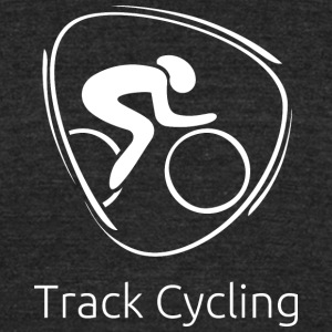 Track_cycling_white - Unisex Tri-Blend T-Shirt by American Apparel