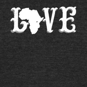 Love Africa Shirt - Unisex Tri-Blend T-Shirt by American Apparel