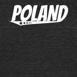 Poland Retro Comic Book Style Logo Polish - Unisex Tri-Blend T-Shirt by American Apparel