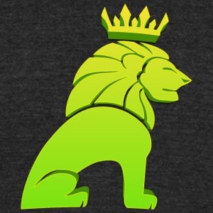 lion_king_green - Unisex Tri-Blend T-Shirt by American Apparel