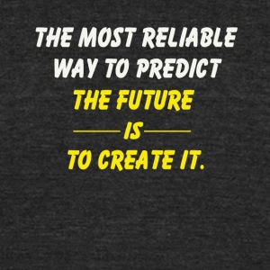 create the future - Unisex Tri-Blend T-Shirt by American Apparel