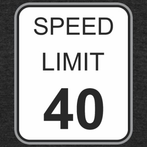 Road_sign_speed_limit_40 - Unisex Tri-Blend T-Shirt by American Apparel