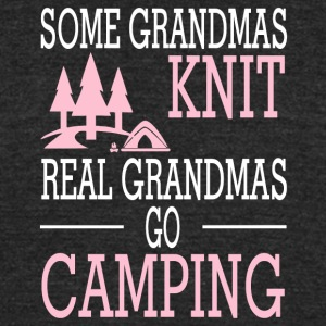 Real Grandma Go Camping T Shirt - Unisex Tri-Blend T-Shirt by American Apparel