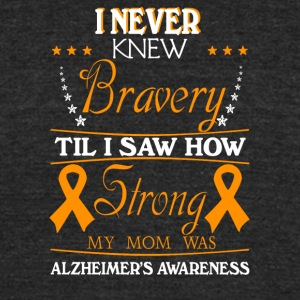 How Strong My Mom Was Alzheimers Awareness Shirt - Unisex Tri-Blend T-Shirt by American Apparel