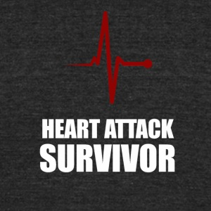 heart attack survivor - Unisex Tri-Blend T-Shirt by American Apparel