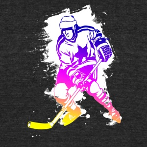 Icehockey hockey player Team canada rainbow lol - Unisex Tri-Blend T-Shirt by American Apparel