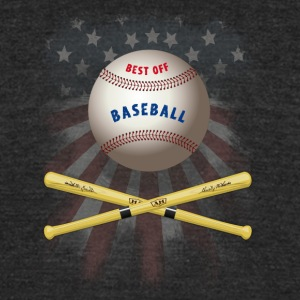 baseball america flagg stars catcher pitcher soft - Unisex Tri-Blend T-Shirt by American Apparel