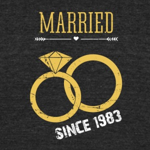 Married since 1983 - Unisex Tri-Blend T-Shirt by American Apparel