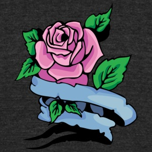 pink_rose - Unisex Tri-Blend T-Shirt by American Apparel