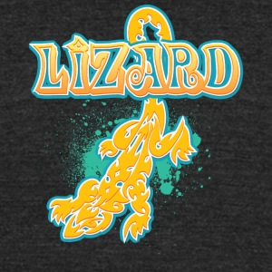 Lizard_with_text_29 - Unisex Tri-Blend T-Shirt by American Apparel