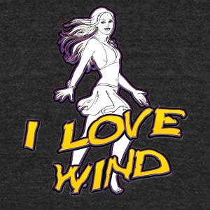I_love_wind - Unisex Tri-Blend T-Shirt by American Apparel