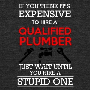 Plumber - Unisex Tri-Blend T-Shirt by American Apparel