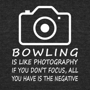 Bowling Like Photography-cool shirt,geek hoodie - Unisex Tri-Blend T-Shirt by American Apparel