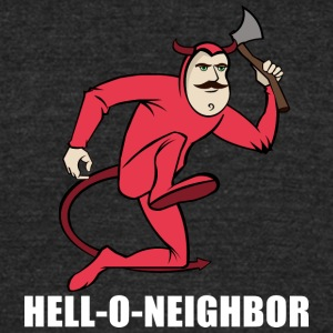 Hell-O-Neighboor - Unisex Tri-Blend T-Shirt by American Apparel