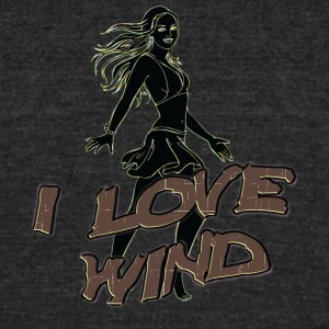 I_love_wind_black - Unisex Tri-Blend T-Shirt by American Apparel