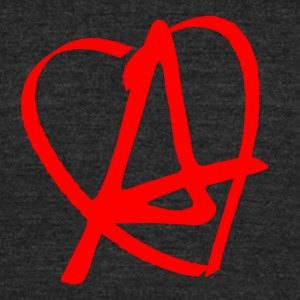 Love & Anarchy - Unisex Tri-Blend T-Shirt by American Apparel