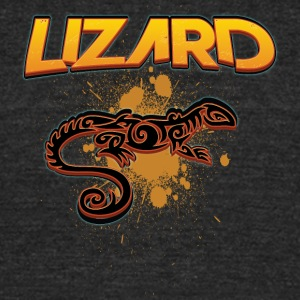 Lizard_with_text_10 - Unisex Tri-Blend T-Shirt by American Apparel