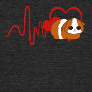 Heart Guinea Pig Shirt - Unisex Tri-Blend T-Shirt by American Apparel