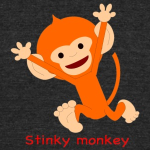 Pongo Stinky monkey - Unisex Tri-Blend T-Shirt by American Apparel