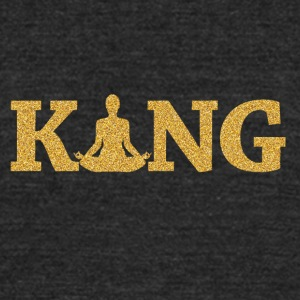 Yoga King - Unisex Tri-Blend T-Shirt by American Apparel